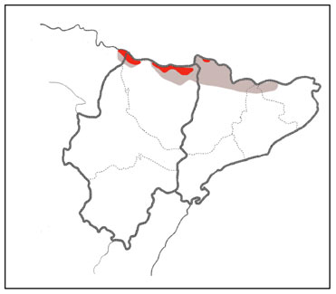 Snowfinch distribution in the Pyrenees, Spain