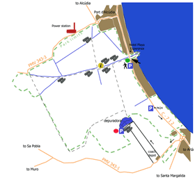 S'Albufera Natural Park Itinerary Map