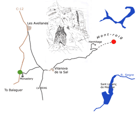 Mont-rebei gorge Itinerary Map