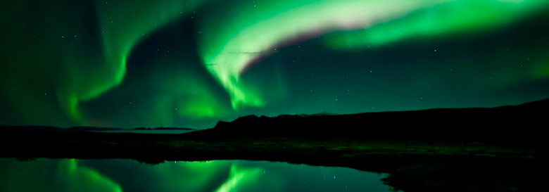 Northen lights are one of the most famous landscape of the iceland region